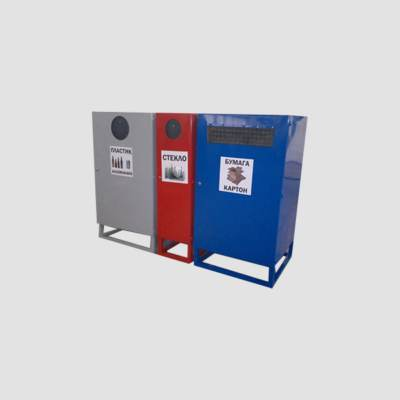 Контейнер для сбора пластика стекла и бумаги КБ1-1