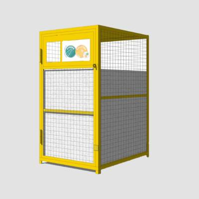 сетчатый контейнер для сбора пластика