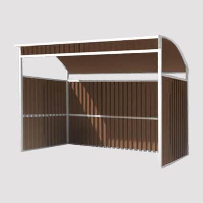 площадка для контейнеров тбо на 2 контейнера модульная